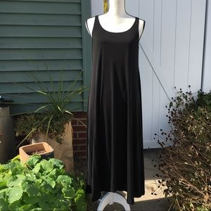 Eileen Fisher Silk Scalloped Hemline Tank Dress